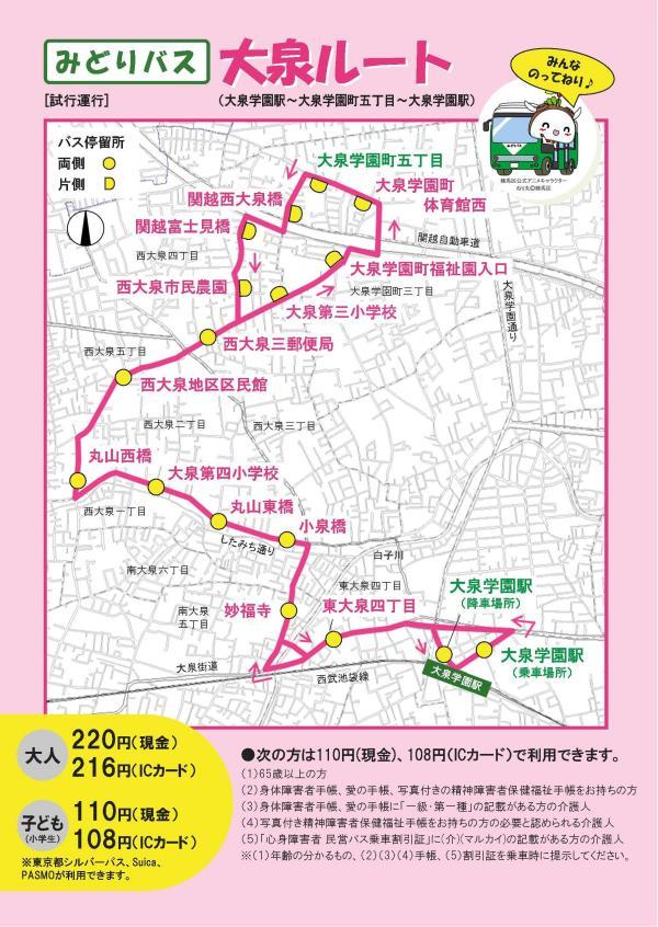みどりバス運行路線図:練馬区公式ホームページ
