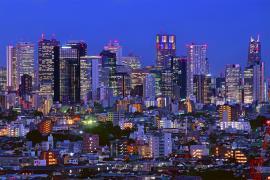 新宿副都心方面の夜景